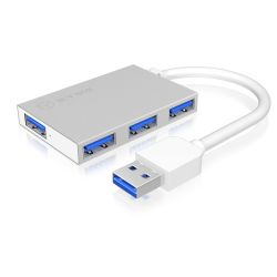 RaidSonic Icy Box IB-HUB1402 4-Port USB 3.0 Hub weiß Bild0