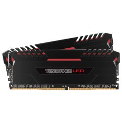 16GB (2x8GB) Corsair Vengeance LED Rot DDR4-3200 RAM CL16 (16-18-18-36)  Bild0