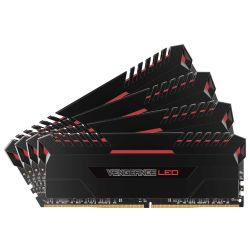 64GB (4x16GB) Corsair Vengeance LED Rot DDR4-3200 RAM CL16 (16-18-18-35) Bild0