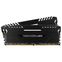 32GB (2x16GB) Corsair Vengeance LED Weiß DDR4-2666 RAM CL16 (16-18-18-35) Bild0