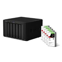 Synology DS1515+ NAS System 5-Bay 50TB inkl. 5x 10TB Seagate ST10000VN0004 Bild0
