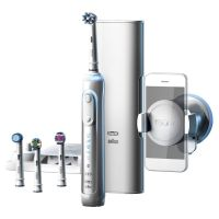 Braun Oral-B Genius 9000 White CrossAction Elektrische Zahnbürste mit Bluetooth