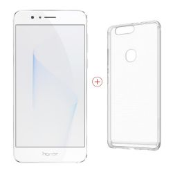 Honor 8 white Dual-SIM Android N Smartphone + Case (transparent) Bild0