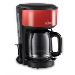 Russell Hobbs 20131-56 Colours Glas-Kaffeemaschine Flame Red Bild0