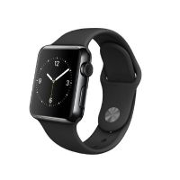 Apple Watch Space Schwarz Stainless Steel mit Sportarmband 38mm
