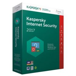 Kaspersky Internet Security 2017 5 Lizenzen - Minibox, Product Key Card Bild0