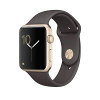 Apple Watch Series 2 42mm Aluminiumgehäuse Gold mit Sportarmband Kakao