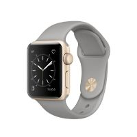Apple Watch Series 1 38mm Aluminiumgehäuse Gold mit Sportarmband Beton