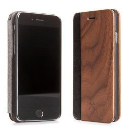 Woodcessories EcoFlip Business für iPhone 7 Plus walnuss + leder Bild0