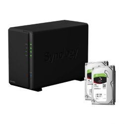 Synology DS216play NAS System 2-Bay 2TB inkl. 2x 1TB Seagate ST1000VN002 Bild0