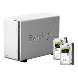 Synology DS216j NAS System 2-Bay 8TB inkl. 2x 4TB Seagate ST4000VN008 Bild0