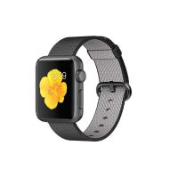 Apple Watch Sport 38mm Aluminiumgehäuse Space Grau Armband Nylon Schwarz