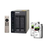QNAP TS-253A-4G NAS System 2-Bay 4TB inkl. 2x 2TB Seagate ST2000VN004