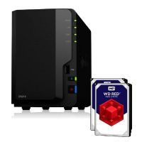 Synology Diskstation DS218 NAS 2-Bay 8TB inkl. 2x 4TB WD RED WD40EFRX