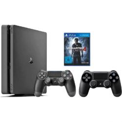 Sony PlayStation 4 Slim 1TB Konsole Bundle Uncharted 4 + 2. Controller Bild0
