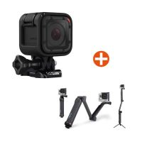 GoPro HERO Session Action Cam mit GoPro 3-Wege-Halterung