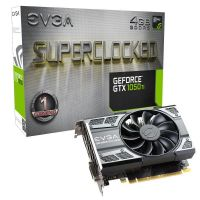 EVGA GeForce GTX 1050Ti SC Gaming 4GB GDDR5 DVI/HDMI/DP Grafikkarte