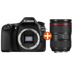 Canon EOS 80D Kit EF 24-105mm f/4.0L IS II USM Spiegelreflexkamera *Aktion* Bild0