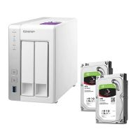 QNAP TS-231P NAS System 2-Bay 8TB inkl. 2x 4TB Seagate ST4000VN008