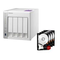 QNAP TS-431P NAS System 4-Bay 8TB inkl. 4x 2TB WD RED WD20EFRX