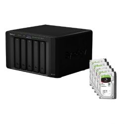 Synology DS1515+ NAS System 5-Bay 30TB inkl. 5x 6TB Seagate ST6000VN0041 Bild0