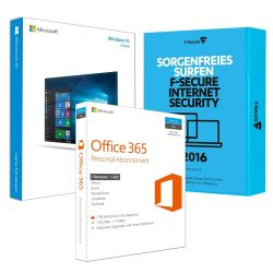 Microsoft Windows 10 Home 64 Bit OEM + O365 + F-Secure Internet-Security 2016 Bild0