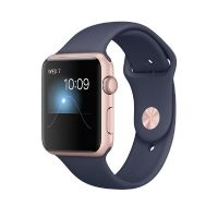 Apple Watch Series 1 42mm Aluminiumgehäuse Roségold mit Sportarmband Blau