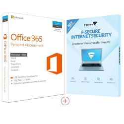 Microsoft Office 365 Personal (1U/1PC/1Y) + F-Secure Internet Security (3PC/1Y) Bild0