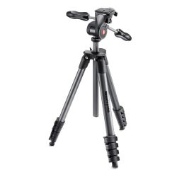 Manfrotto Compact Advanced Stativ-Set mit 3Wege-Neiger + Tasche Bild0