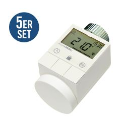 HomeMatic 5er Set 105155 HM-CC-RT-DN Funk-Heizkörperthermostat Bild0