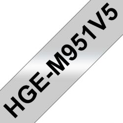 Brother HGe-M951V5 Schriftband-Multipack 5x High-Grade 24mm x 8m Bild0
