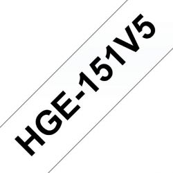 Brother HGe-151V5 Schriftband-Multipack 5x High-Grade 24mm x 8m Bild0