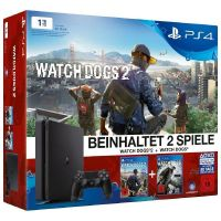 Sony PlayStation 4 Slim 1TB Konsole Watch Dogs 2 + Watch Dogs Bundle Edition