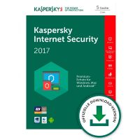 Kaspersky Internet Security 2017 Vollversion 5 PCs - ESD