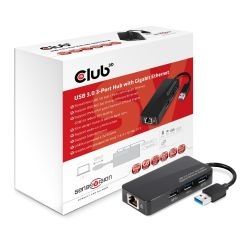 Club 3D SenseVision USB 3.0 3-Port HUB mit Gigabit Ethernet Adapter CSV-1430 Bild0