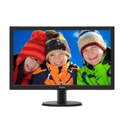 "Philips V-line 240V5QDSB 60.5cm (23,8"") Full HD Monitor VGA/DVI/HDMI 5ms  Bild0"