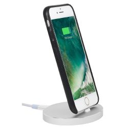 StilGut Airdock Oval iPhone Dockingstation, silber Bild0