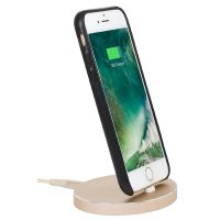 StilGut Airdock Oval iPhone Dockingstation, gold