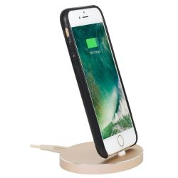 StilGut Airdock Oval iPhone Dockingstation, gold Bild0