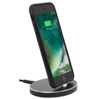 StilGut Airdock Oval iPhone Dockingstation, schwarz