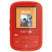 SanDisk Clip Sport Plus MP3 Player 16GB rot