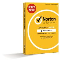 Symantec Norton Antivirus Basic, 1 PC 1 Jahr, Minibox