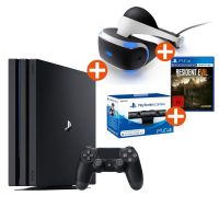 Sony PlayStation 4 Pro + Virtual Reality + VR Kamera + Resident Evil 7 FSK18