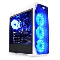 LC-Power Gaming 988W Blue Typhoon Midi Tower Gaming Gehäuse mit Seitenfenster