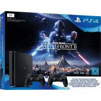 Sony PlayStation 4 Slim 1TB Star Wars Battlefront 2 Edition mit 2. Controller