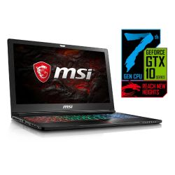 MSI GS63 7RE-011 Stealth Pro i7-7700HQ HDD+SSD Full HD GTX 1050 Ti Windows 10 Bild0