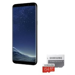 Samsung GALAXY S8+ midnight black 64GB Android Smartphone + Samsung EVO Plus 64G Bild0