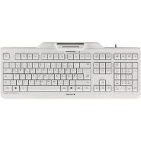 Cherry KC 1000 SC Keyboard mit Smart Card Reader USB weiß-grau