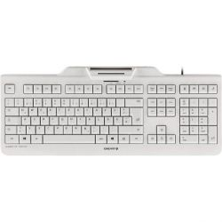 Cherry KC 1000 SC Keyboard mit Smart Card Reader USB weiß-grau Bild0
