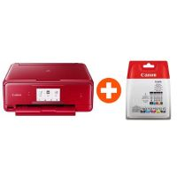 Canon PIXMA TS8052 rot Multifunktionsdrucker + Multipack + 35 EUR Cashback*